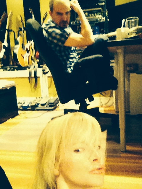 silly in the studio ....
