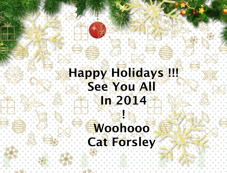 Happy Holidays :) xx Cat