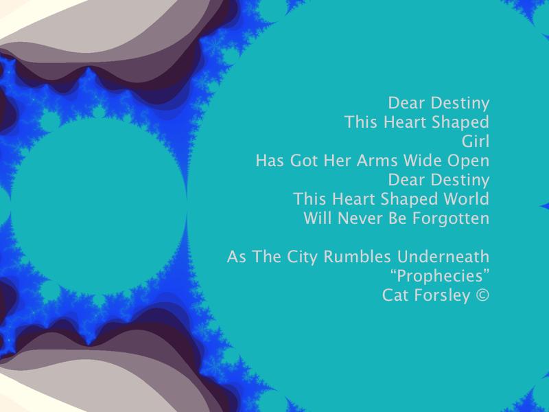 Dear Destiny Lyric art Cat Forsley ©